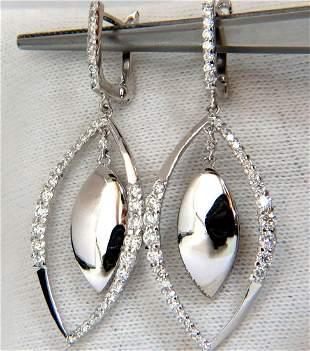 1.26CT Diamonds Marquise Form Dangle & Inner Earrings