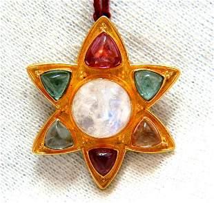 3.00ct Natural Tourmaline Iconic Star Pendant 22 Karat