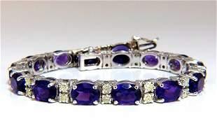 20ct natural amethyst fancy yellow diamonds bracelet 14