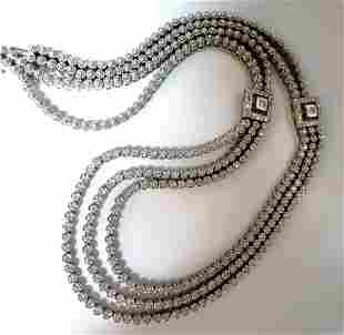4.00ct natural diamonds multi-stranded Modern Necklace