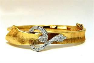 .40ct Natural Diamonds Bangle Bracelet Vintage 14 karat