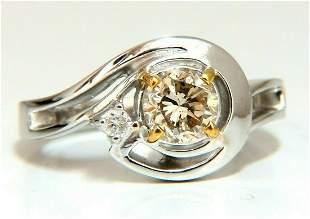 .85ct Natural Fancy Light Brown Diamond Ring 14 Karat