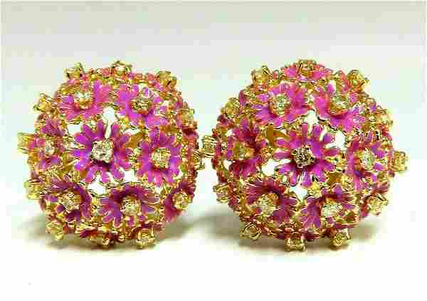 1.52ct Natural Fancy Yellow Diamonds Floral Dome Cluste