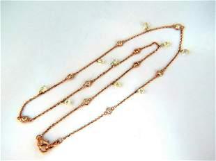 6.00ct Natural Briolette Diamonds Station Yard Necklace