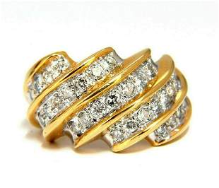 .80ct Natural Diamond Slant Band 14 Karat