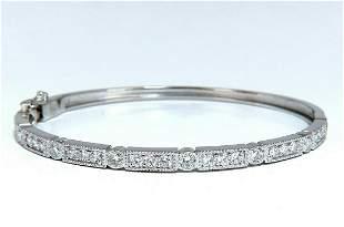 1.60ct Natural Diamonds Bangle Bracelet Edwardian Deco
