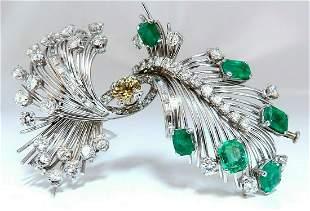 Platinum Estate Natural GIA Certified Fancy Diamond Eme