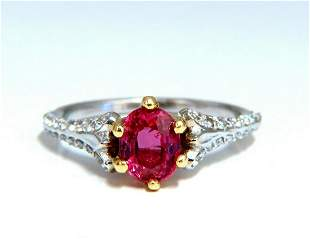 AIGS Certified 1.07ct Natural Pink No Heat Ruby Diamond