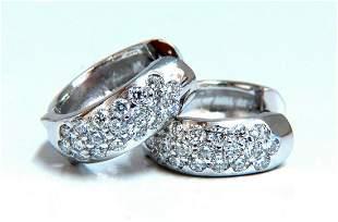 .75ct Natural Diamonds Huggie Hoop Earrings 14 Karat Go