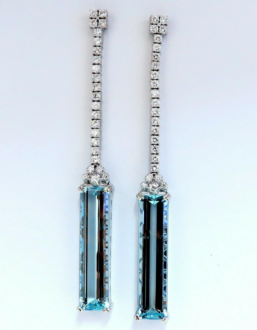 GIA Certified 62.22ct Natural Aquamarine Diamonds Dangl