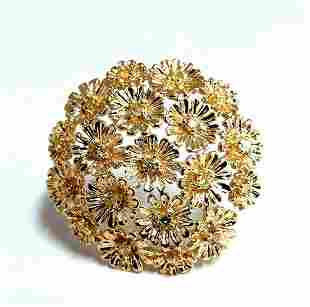 1.00ct Diamonds Dandelion Cluster Bundle Brooch Pendant