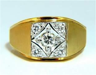 .50ct Mens Diamond Ring 14 karat Masculine Mod 5 Spade