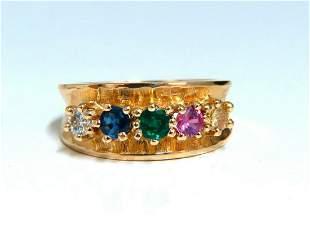 1.25ct Natural Sapphire Emerald & Diamond Mothers 5