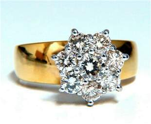 1.04ct Natural Diamonds Floating Cluster on Band Ring 1