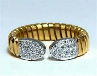 .30ct Natural Diamonds Adjustable Ring 18Kt Size 6-7