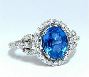GIA Certified 3.30ct Natural No Heat Sapphire Diamond