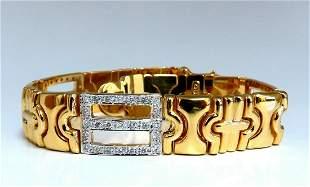 Authentic Italian Mens Diamond Byzantine Deco Link Brac