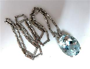 GIA Certified Natural 42.02ct Blue Aquamarine Diamonds
