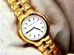 Authentic Tiffany Tesoro 18kt Gold Watch