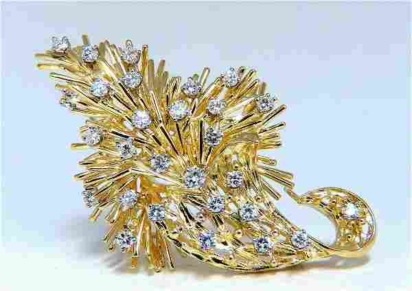 1.05ct Natural Diamonds Brooch Pin 18kt