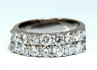 1.54ct Natural Diamonds Precision Set Double Row Ring 1