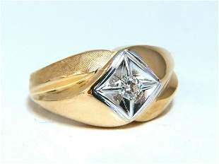 .25ct Mens Domed Masculine Graver & Shine Diamond Ring