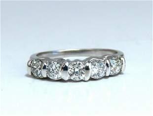 1.02ct Natural Round Diamonds Channel Band Platinum