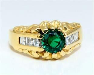 GIA Certified Natural Non Enhancement Green Emerald