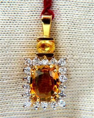 2.53ct Natural Orange Brown sapphire Diamonds Drop