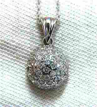 1.04ct Natural Diamonds Cluster Dome Ball Necklace 14