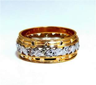 .18ct natural diamond eternity ring 14kt vintage floral