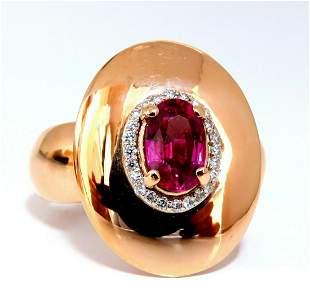GIA Certified 1.19ct oval cut red No Heat Ruby diamonds