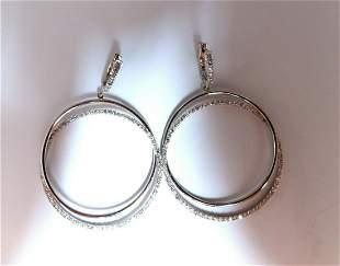 2.06ct natural diamonds loop rings dangle earrings 14kt