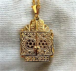 Torah Functional Necklace 14 Karat + chain
