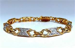 1.10ct Round Diamonds Greek Iconic Linked Bracelet 14kt