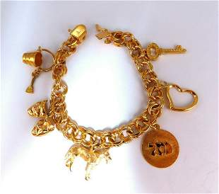 Assorted Lucky Charms Bracelet 14 karat