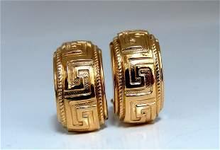 14kt Gold Greek Icon Symbolic Clip