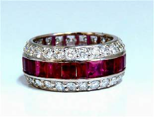 9.20ct Natural Ruby Diamonds eternity Ring 14kt Natural