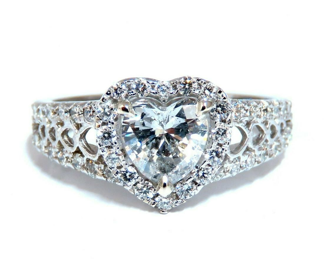 GIA Certified 1.27ct Heart Shape Diamond Cluster Ring