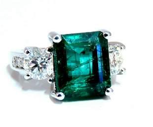 GIA Certified: 6.06ct Natural Emerald Diamonds Ring