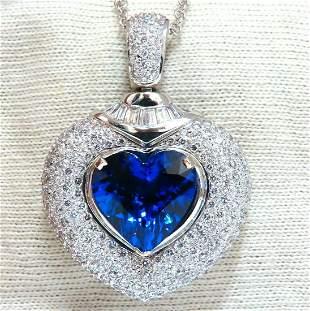 GIA Certified 8.50ct Natural Heart Tanzanite Diamond