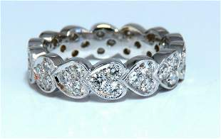 1.23ct Natural Diamonds Eternity Band Pave Bead Set
