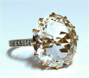10.20ct Lab White Sapphire Diamonds Rings 14kt