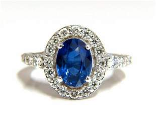GIA Certified 3.38ct natural royal blue sapphire ring