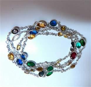 11.23ct. Natural Vivid Sapphires Ruby Emerald Tanzanite