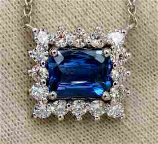 GIA Certified 3.18ct Natural No Heat Blue Sapphire