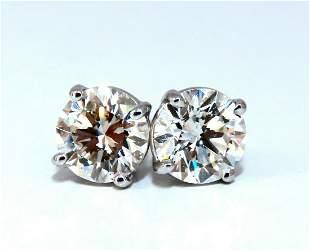 GIA Certified 2.00ct Natural Round Diamond Stud
