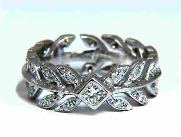 .40ct Ancient Deco Grecian Peace Crest Eternity Diamond