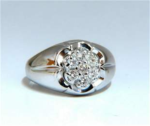 .55ct Natural Round Diamonds Cluster Ring 14kt
