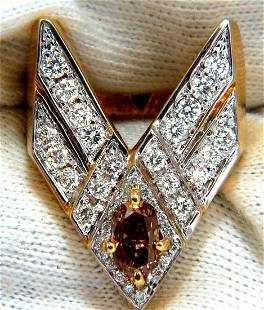 """2.50ct DIAMONDS """"V"""" CLAW STATEMENT RING FANCY COLOR"""